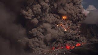 Pyroklastische Ströme am Sinabung