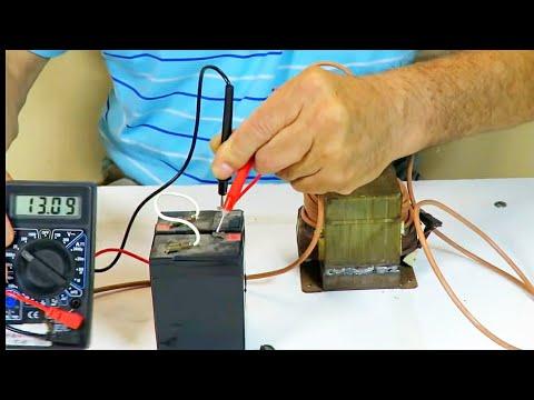 Cargador de Baterias con Transformador de Microondas