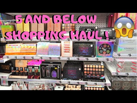 SHOP WITH ME | Five BELOW HAUL ! MAKEUP, HOME DECOR & MORE!
