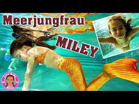 MEERJUNGFRAU Miley Unterwasser Spaß im Schwimmbad - Mermaid | CuteBabyMiley