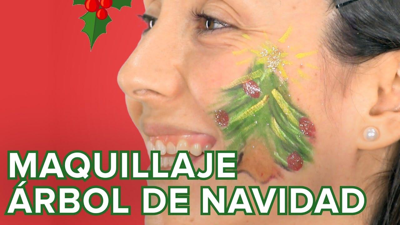 Maquillaje de árbol de Navidad para niños