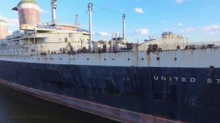 VIDEO: 4K Drone Footage of the SS United States