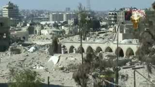 preview picture of video 'Aleppo: Khan Al-Shouneh and Khosrowiyya mosque حلب القديمة : خان الشونة وجامع الخسروية'