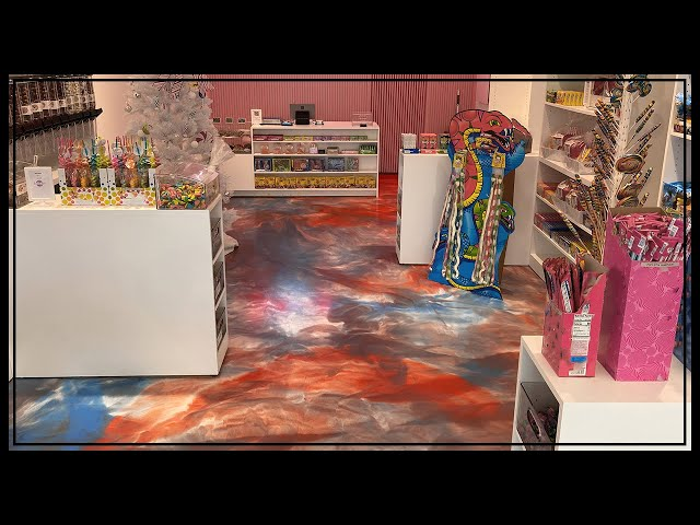 Cotton Candy Epoxy Floor