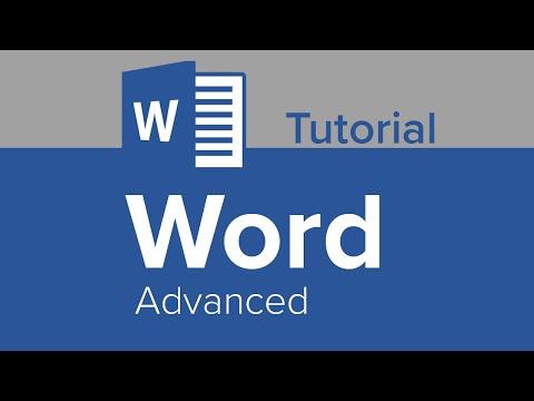 Word Advanced Tutorial - YouTube