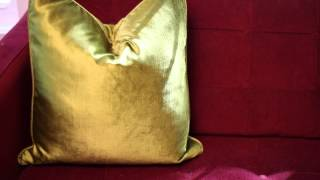 How to Decorate a Burgundy-Colored Sofa : Design Ingredients