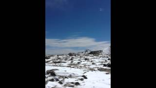 Footage from an April outing to the summit of Flattop.
