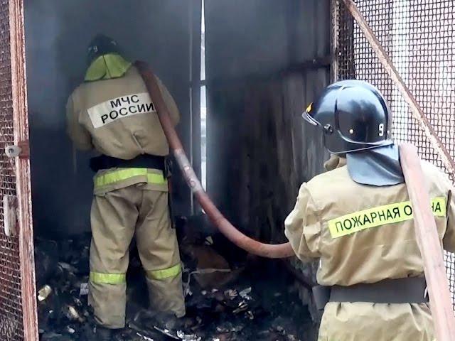 Сгорела…мусорка