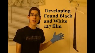 Developing 127 film Black and White