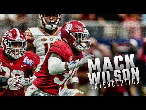 Alabama's Mack Wilson picks off FSU QB Deondre Francois
