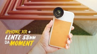 🔥 iPhone XR + LENTE MOMENT 58mm comprada no GRABR