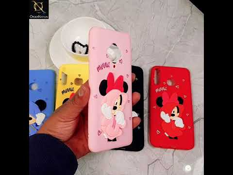 Samsung Galaxy A50 Cover - Red - Trendy Colourful Mickey And Minnie Soft Case
