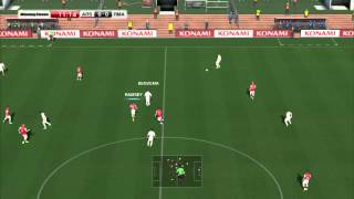 Winning Eleven 2014 Arsenal vs Real Madrid in Superstar Difficulty
