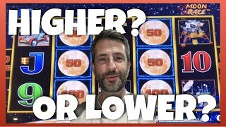 $100 in 5 Different Slot Machines playing HIGHER or LOWER!  Enchanted Unicorn, Lightning Link & More
