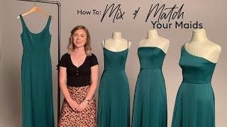 How To Mix & Match Your Bridesmaids With Davids Bridal