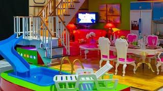 DIY КАК СДЕЛАТЬ МИНИАТЮРНЫЙ  ДОМИК  DIY Miniature Dollhouse ~ a Kitchen, Living Room, Bedroom