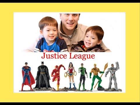 Schleich DC Comics The Justice League Big Set Reviews with Twins