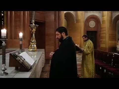 Утренняя служба в Армянской Церкви г. Москвы