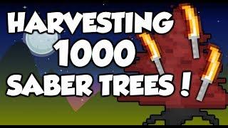 Growtopia - Harvesting 1.000 growsaber trees (Ft. Jackbowe)