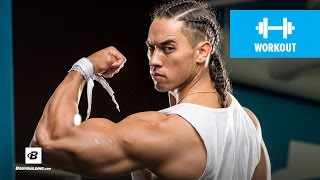 Raynor Whitcombe's Shoulders, Arms, & Power Conditioning Workout by Bodybuilding.com