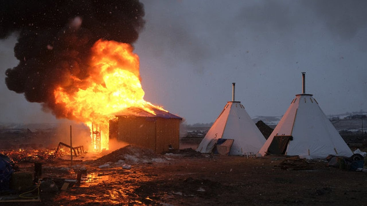 BREAKING: Water Protector's Camp Surrounded, Cops Moving In thumbnail