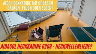 AIDA Balkonkabine am Heck mit großem Balkon: Fluch oder Segen? Reicht da die Heckwellenliebe aus?