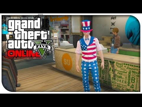 GTA 5 Online - NEW Male & Female USA Clothes! (Outfit Showcase) [GTA V Independence Day DLC]