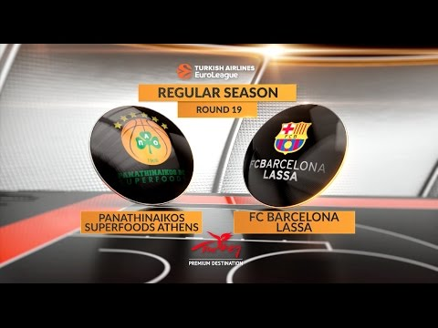 EuroLeague Highlights RS Round 19: Panathinaikos Superfoods Athens 71-65 FC Barcelona Lassa