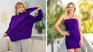 EASY CLOTHES HACKS FOR GIRLS || Brilliant DIY Ideas by 123 GO!