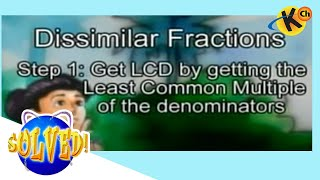 Addition of Dissimilar Fractions
