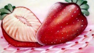 Como Pintar Morangos No Tecido