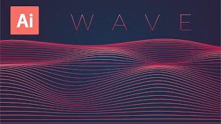Dynamic Line Wave | Adobe Illustrator Tutorial
