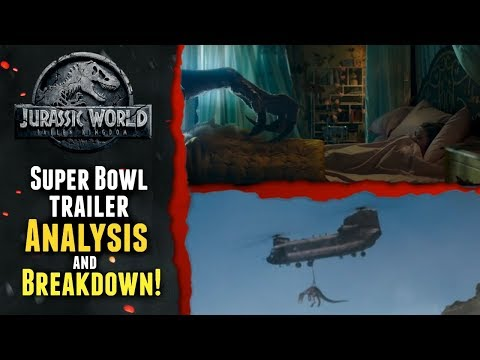 New Jurassic World Fallen Kingdom Super Bowl Trailer Analysis and Breakdown by Klayton Fioriti
