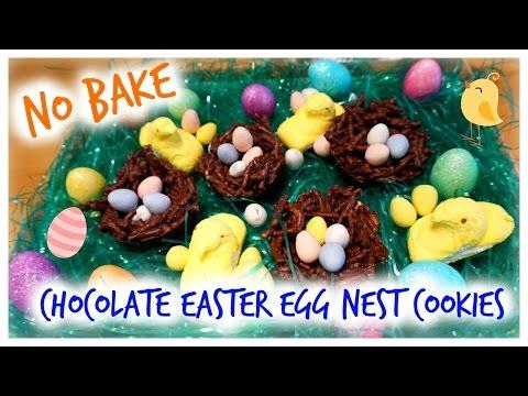 NO BAKE – CHOCOALTE EASTER EGG NEST COOKIES!