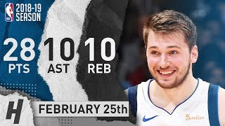 Luka Doncic Triple-Double Full Highlights Mavericks vs Clippers 2019.02.25 - 28 Pts, 10 Ast, 10 Reb!