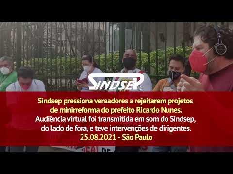 Sindsep pressiona vereadores a rejeitarem projetos de minirreforma do prefeito Ricardo Nunes