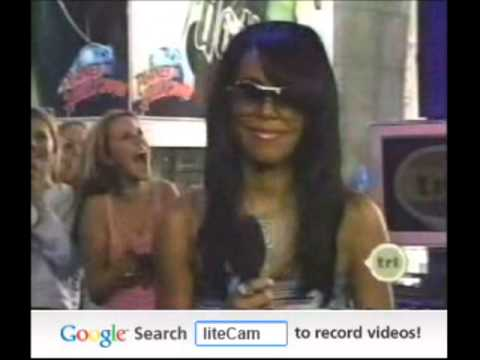 Aaliyah Premiering We Need A Resolution On TRL (April '01)