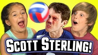 Kids React to SCOTT STERLING!!! (Best Volleyball Blocks Ever)