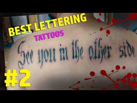 BEST LETTERING TATTOOS 2 (Video Bonus)- Nosfe Ink Tattoo