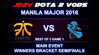 Fnatic vs Newbee Game 1 VOD - Manila Major 2016, Main event, WB R2 / Mushi SF / Hao Weaver