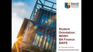 MH401 BA Finance BAIFE