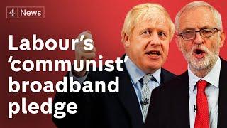 Johnson condemns Labour's 'communist' free broadband plan