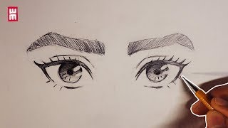 How To Draw Eyes For Beginners | Anime Manga Drawing Tutorial