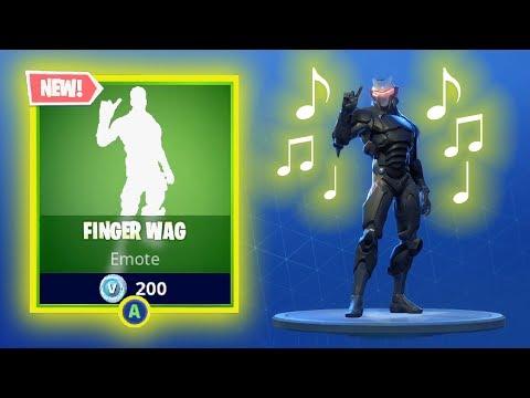 NEW FINGER WAG EMOTE DANCE ** WITH SOUND ** Fortnite Battle