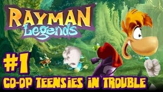Rayman Legends Wii U - (2048p) Co Op - Part 1 Teensies in Trouble & Giveaway