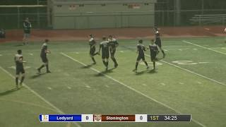 Watch live: Ledyard at Stonington boys' soccer