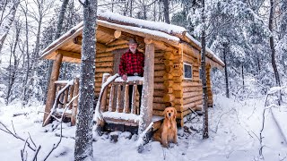 Log Cabin TIME LAPSE | SAUNA Full Build By One Man In The Forest