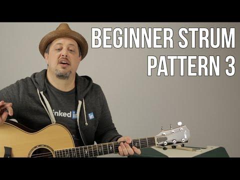 Beginner Strumming Patterns For Acoustic Guitar Pattern 3 - Beginner Guitar Lessons