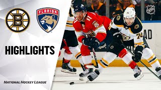 NHL Highlights | Bruins @ Panthers 3/5/20