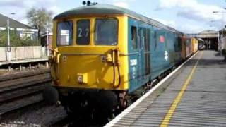 preview picture of video '73208 + 73206 depart Paddock Wood - 27/10/08'